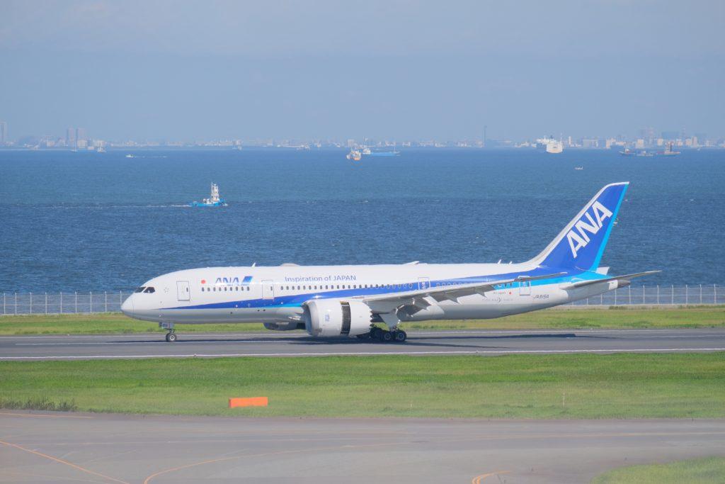 羽田空港 北風 ANA